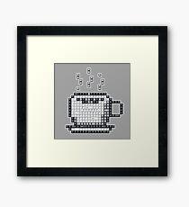Keyboard Pixel Art - COFFEE Framed Print