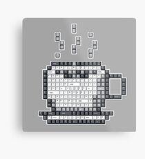 Keyboard Pixel Art - COFFEE Metal Print
