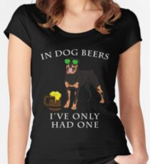 Rottweiler Ive Only Had One In Dog Beers Year of the Dog Irish St Patrick Day Women's Fitted Scoop T-Shirt