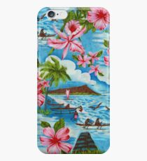 Hawaiian Scenes in Pastel Colors iPhone 6 Case