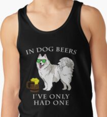 Samoyed Ive Only Had One In Dog Beers Year of the Dog Irish St Patrick Day Men's Tank Top