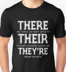 Funny English Teacher Grammar T-Shirt for Men and Women Unisex T-Shirt