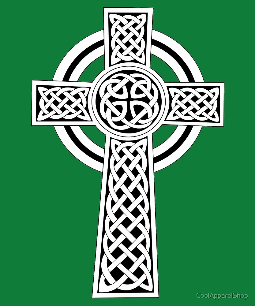 Irish Celtic Cross Decor for St Patricks Day by CoolApparelShop