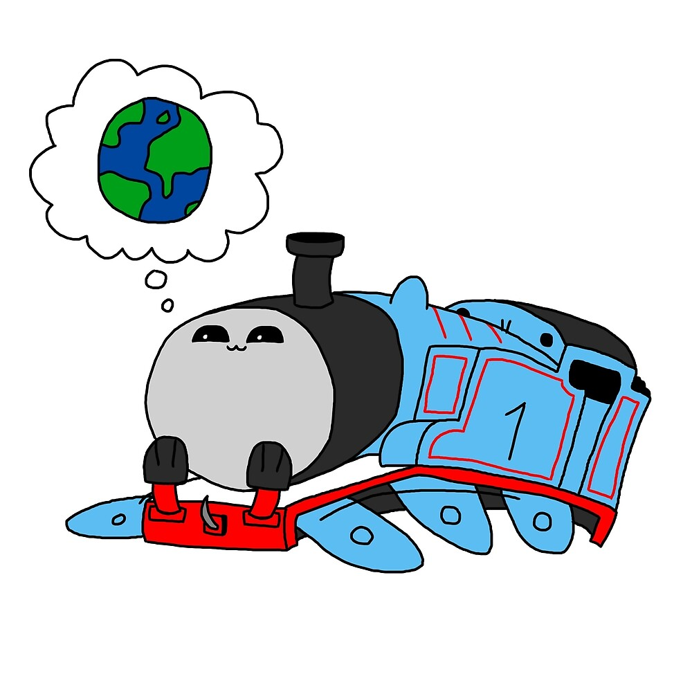 'The little blue engine who wanted to see the world' - Thomas the Tank Engine by loganwilton