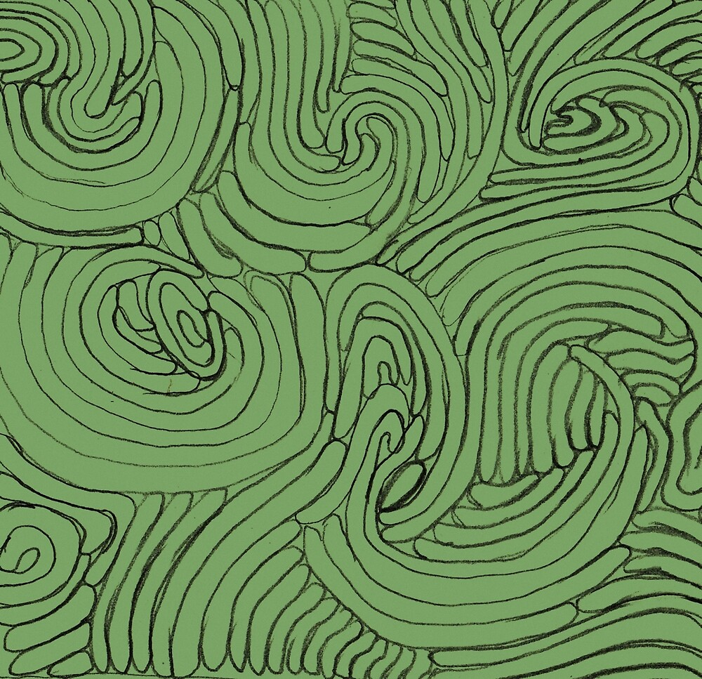 Green Pattern 3 by Tomás Antunes