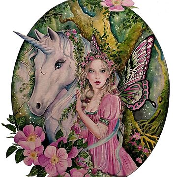 Enchanted forest Unicorn and Fairy by gabo2828