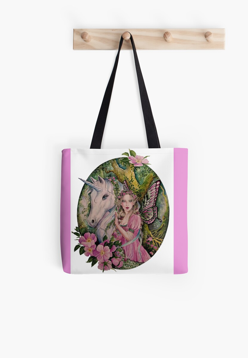 Enchanted forest Unicorn and Fairy by Gabriella  Szabo