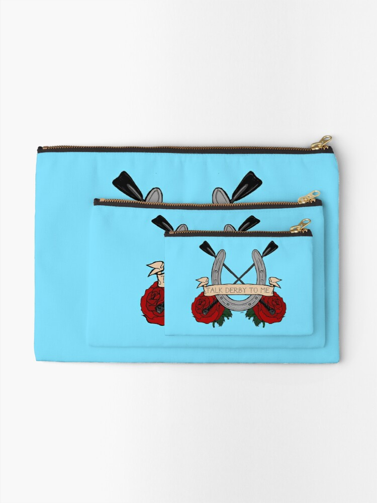 Alternate view of Talk Derby To Me  Zipper Pouch