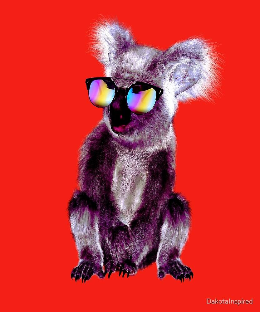 Cool Purple Koala Bear in Shades by DakotaInspired