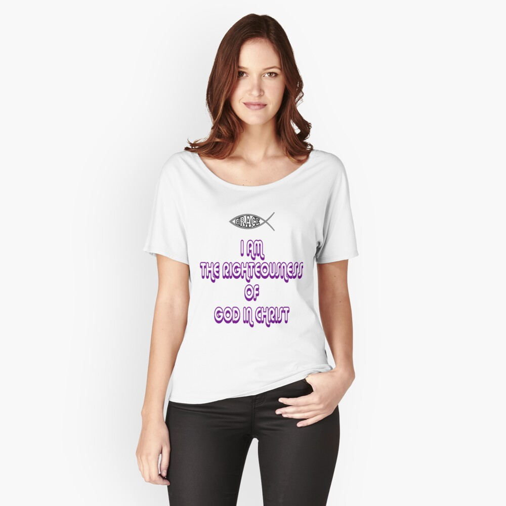 Christ Righteousness Women's Relaxed Fit T-Shirt Front