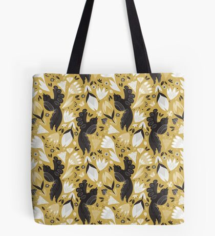 Birds and the Bugs - Yellow Tote Bag