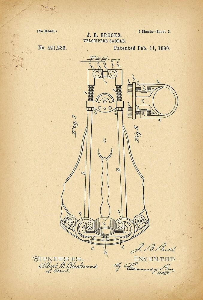 1890 Patent Bicycle saddle by Khokhloma