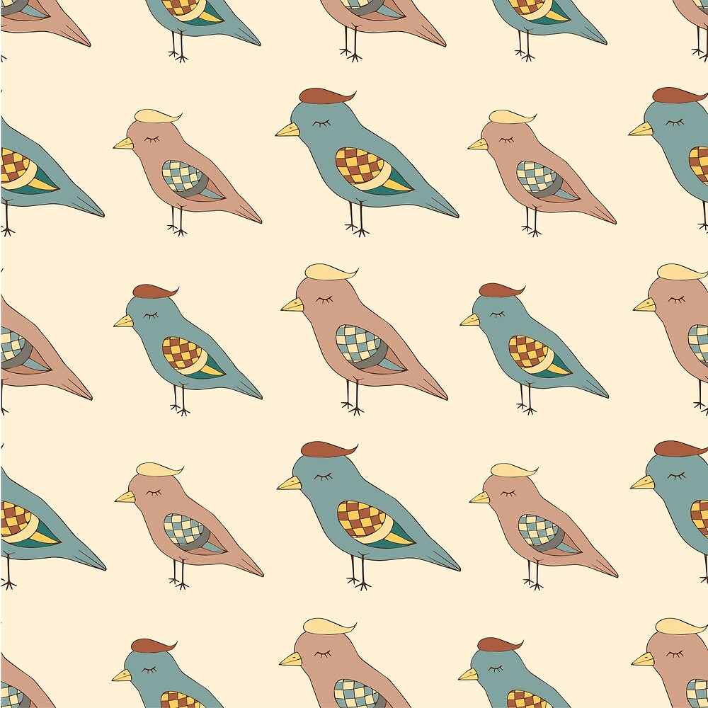 Pattern with funny birds by DaHaeHey