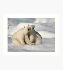 Polar Bear Brothers Art Print