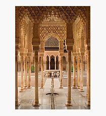 Plaza de Leones Alhambra Palace Granada Spain Photographic Print