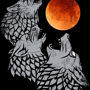 Three wolves howling at the moon by prunstedler