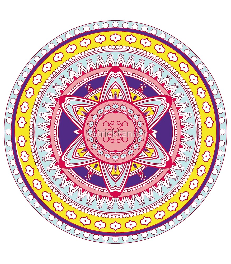 Mandala colored, colorful # 3 by patricktanner