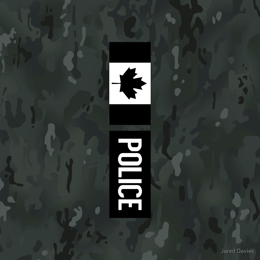 Canadian Police: Black Camouflage by MilitaryCandA