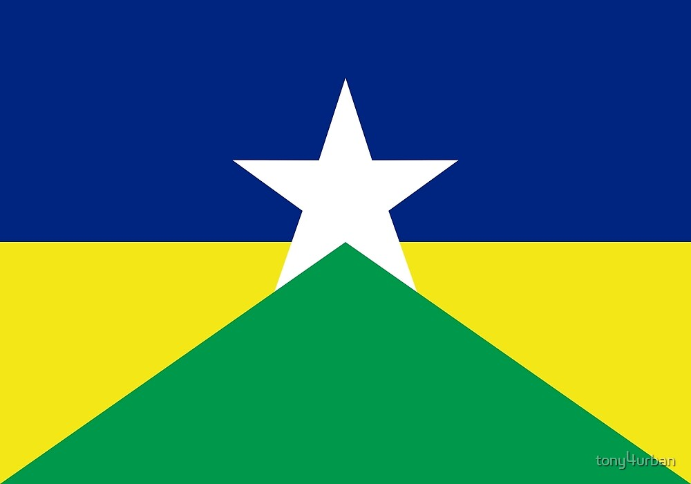 Rondonia flag Brazil by tony4urban