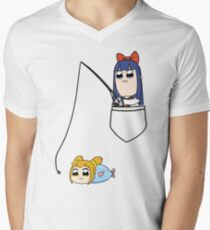 Popuko and Pipimi - Fishing Men's V-Neck T-Shirt