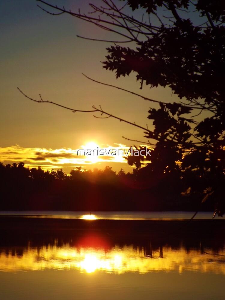 Sunset at the Lake by marisvanvlack