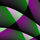 Purple Green Abstract 5 by Gypsykiss