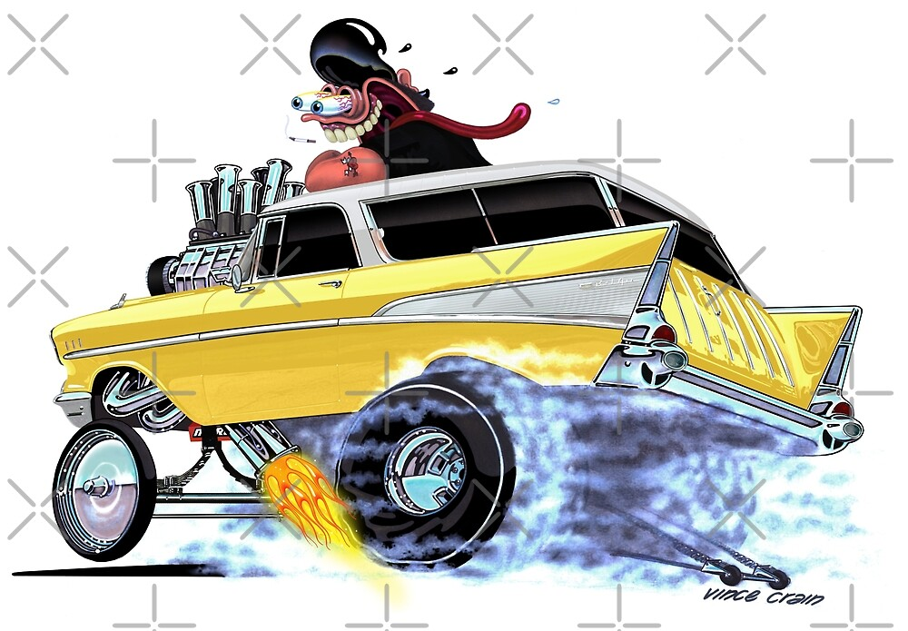 """Vince Crain """"GREASY"""" 1957 Chevy Nomad by vincecrain"""