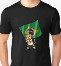 Brazil fan cat Unisex T-Shirt