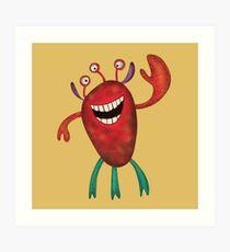 Happy Larry - friendly monster by Cecca Designs Art Print