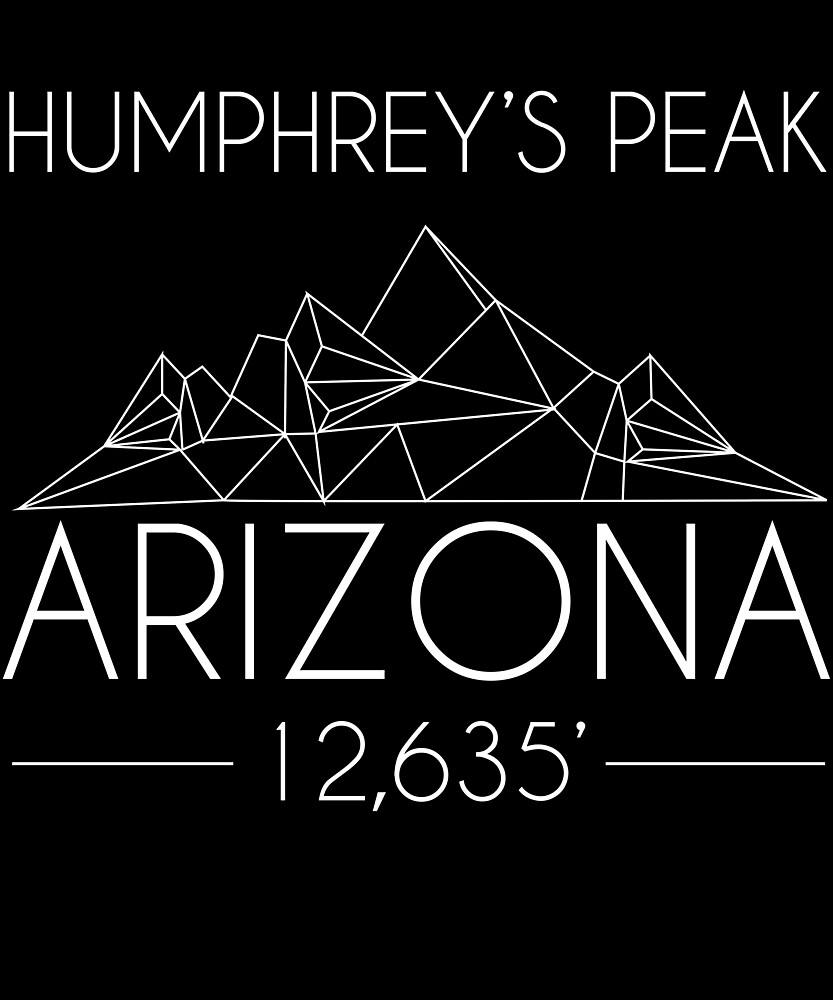 Humphreys Peak Arizona Minimal Mountains Hiking Outdoors Love Heartbeat by hnwc