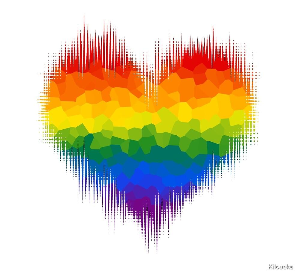 Gay Glitch Heart by Kiloueka