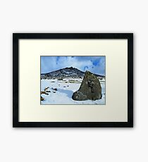 Cornwall: Snow at Rough Tor 2 Framed Print