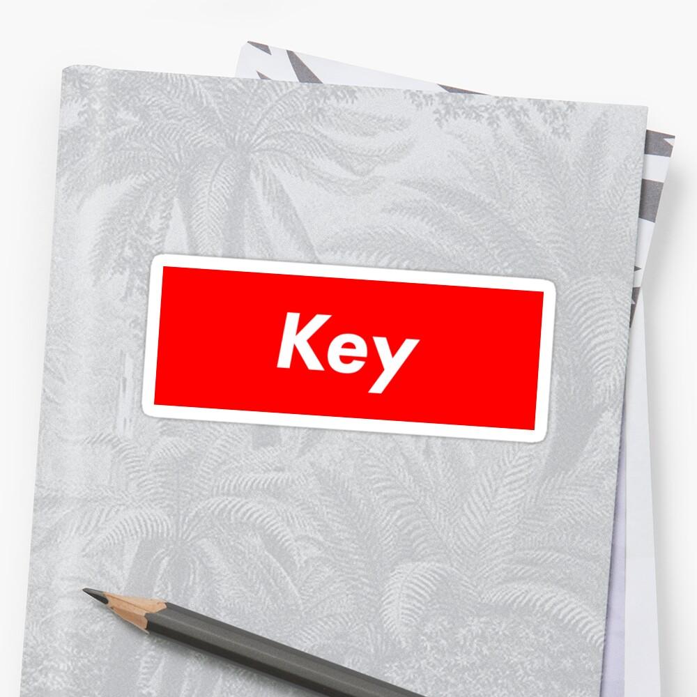 SHINee Key Supreme Logo by alyssashawol