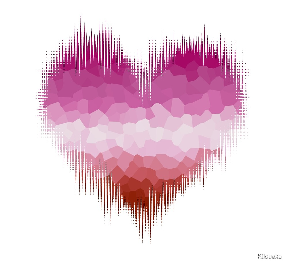 Lesbian Glitch Heart by Kiloueka