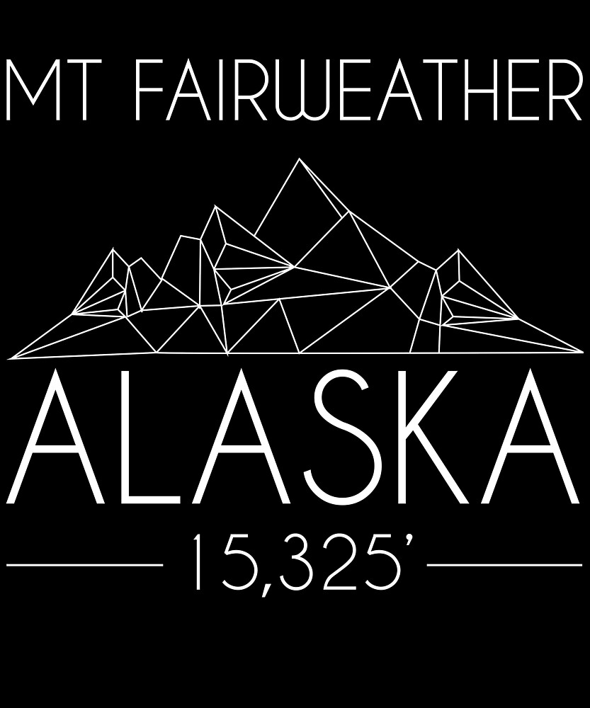 Mount Fairweather Alaska Minimal Mountains Hiking Outdoors Love Heartbeat by hnwc