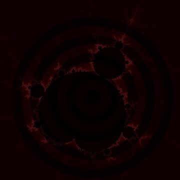 Fractal Light - Mandelbrot Red Rings  by mandelbrotset
