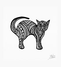 Doodle art Kitty Cat  Photographic Print