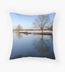 Calm River.. Throw Pillow