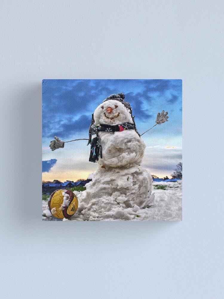 Alternate view of Snow Man Canvas Print