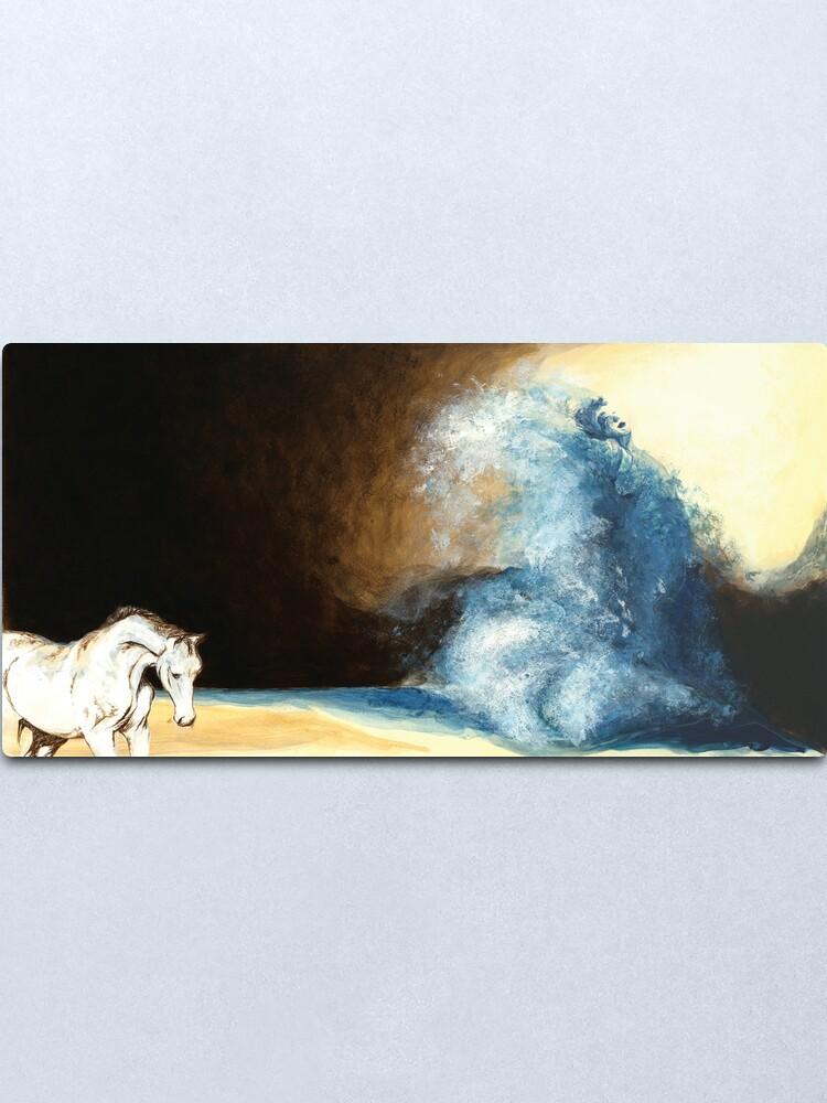 Alternate view of Children's book Wave Woman print Metal Print