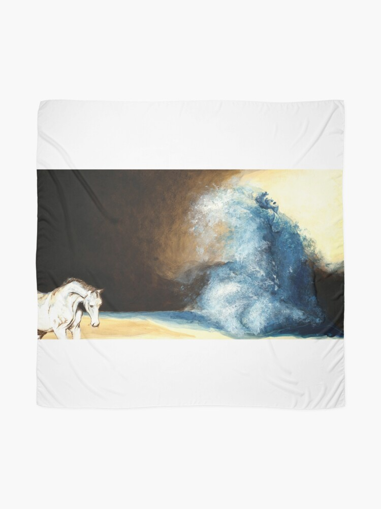Alternate view of Children's book Wave Woman print Scarf