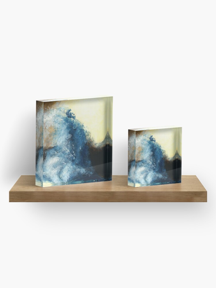 Alternate view of Children's book Wave Woman print Acrylic Block