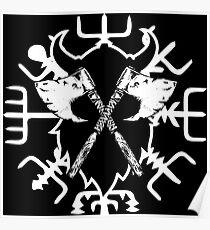 Viking Kompass, Vegvisir Poster