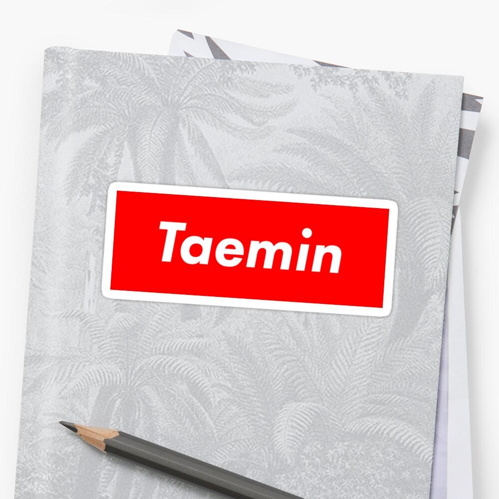 SHINee Taemin Supreme Logo by alyssashawol