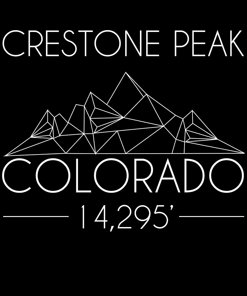 Crestone Peak Colorado Minimal Mountains Hiking Outdoors Love Heartbeat by hnwc