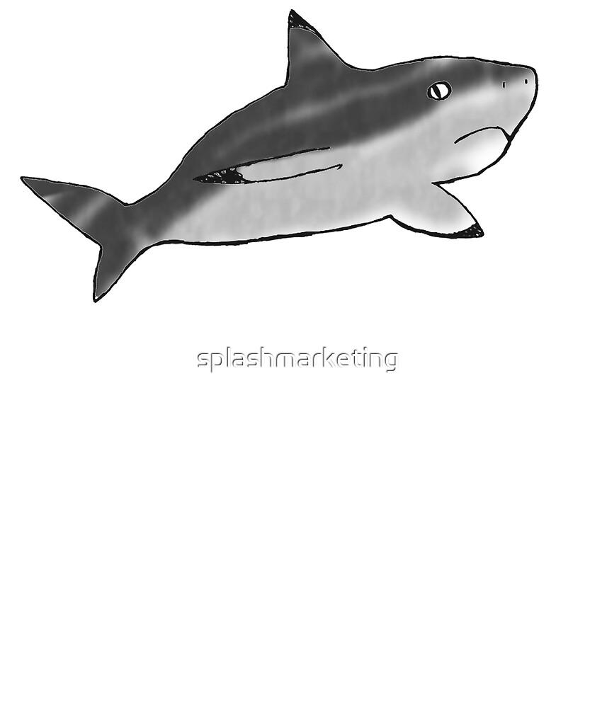 Shark Cartoon - Hand Drawn by Kierra Henderson by splashmarketing