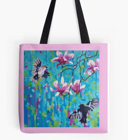 Magnolia & Birds Tote Bag