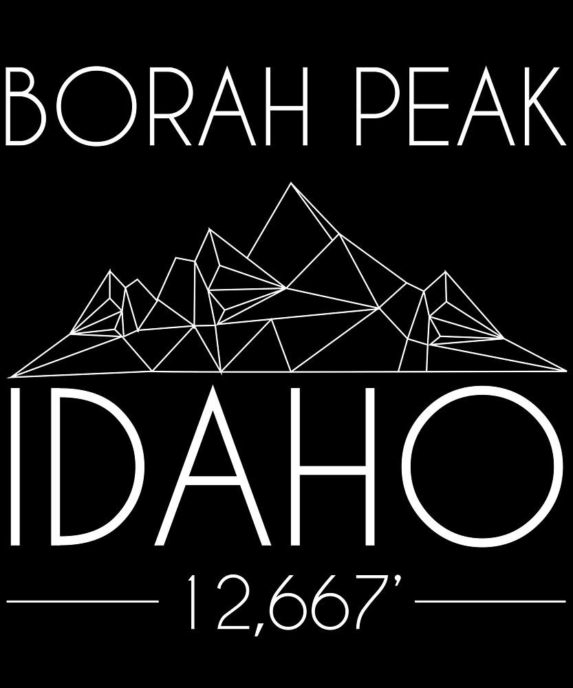 Borah Peak Idaho Minimal Mountains Hiking Outdoors Love Heartbeat by hnwc
