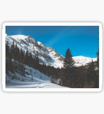 Quiet Mid February Mountains & Snow Sticker