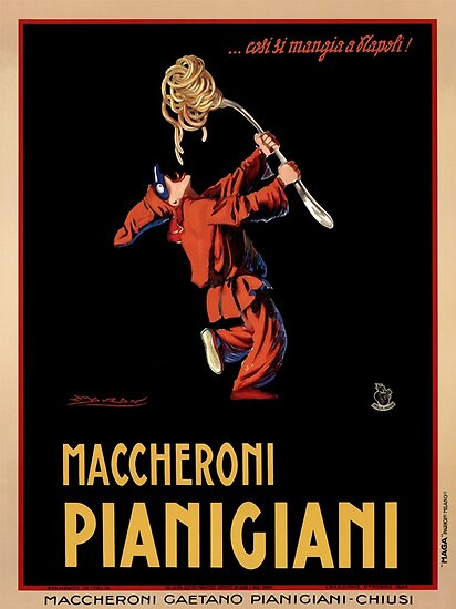 Vintage Poster Italian Macaroni by mindydidit
